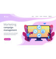 marketing campaign management concept landing page vector image vector image