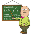 Maths teacher vector image vector image
