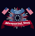 memorial day poster patriotic holiday banner with vector image