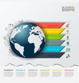 modern infographics global template vector image vector image