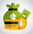 money concept design vector image vector image