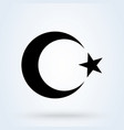 moon and star islamic crescent simple modern vector image vector image