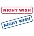 Night Wish Rubber Stamps vector image vector image