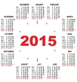 Office calendar 2015 hours vector image vector image