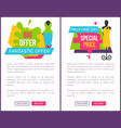 only one day special price fantastic offer women vector image vector image