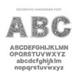 ornate decorative font vector image
