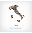 people map country Italy vector image