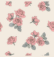pink roses floral seamless pattern vector image vector image