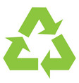 recycle sign icon black vector image vector image