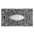 rug is designed with a circular leaf design in vector image vector image