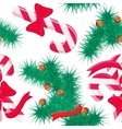 Seamless pattern with Christmas sweets and tree vector image