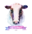 set of watercolor Cute cow vector image
