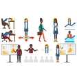 set of with business people vector image vector image
