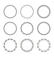 set simple narrow frames and flourishes vector image vector image