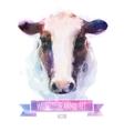 set watercolor cute cow vector image vector image