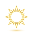 Simple of abstract sun vector image vector image