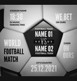 soccer ball close up with text for football match vector image vector image