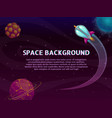 space background with place for your text vector image vector image