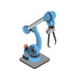 special manufacturing robotic arm on white vector image