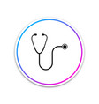 stethoscope medical instrument icon isolated vector image vector image