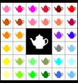 tea maker sign felt-pen 33 colorful icons vector image vector image