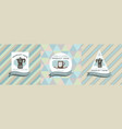 three colored labels with espresso vector image