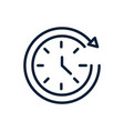 time clock hour assistance linear design vector image