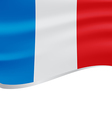 Waving flag of France isolated on white vector image vector image