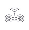 wireless joystick line icon concept wireless vector image