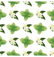 Mint Stems and Leaves Drawing Seamless Pattern vector image