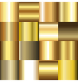 Collection of golden gradient backgrounds vector image