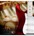 abstract music background with electric guitar vector image