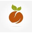 abstract orange logotype vector image