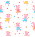 a cute pig princess in a dress and in the crown vector image vector image