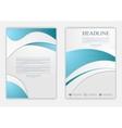 Abstract blue grey wavy corporate flyer design vector image vector image