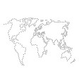 abstract schematic map of world from the black vector image