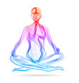 abstract womans silhouette yoga pose asana vector image vector image