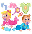 babies theme collection 2 vector image
