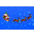 background with Santa Claus flying his sleigh vector image vector image