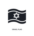black israel flag isolated icon simple element vector image vector image