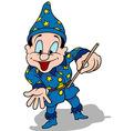 Blue Wizard vector image vector image