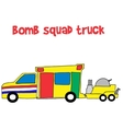 Bomb squad truck collection stock vector image vector image