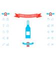 bottle of wine icon vector image
