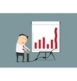 Businessman pumping up graph to increase profit vector image vector image