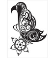 Butterfly with ornaments in Polynesian style vector image vector image