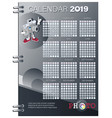 calendar planner for 2019 funny camera and logo vector image vector image