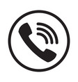 call icon noisy phone flat calling symbol vector image vector image