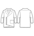 cardigan with zip at front vector image