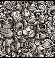 cartoon doodles india seamless pattern vector image vector image
