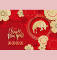 chinese new year greeting card red and gold vector image vector image